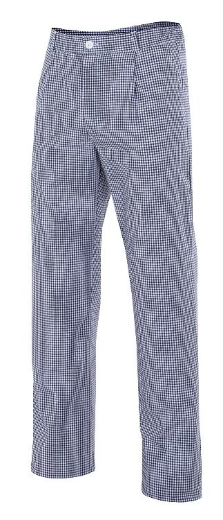 Pantal n de cocina de cuadros con el stico en cintura y bolsillos - Pantalones de cocina ...
